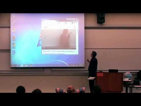 Clase de matemática amenizada con un vídeo muy original.