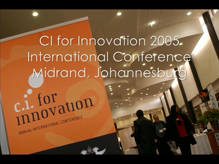 CI for Innovation 2005 conference in Johannesburg