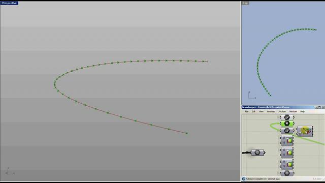 Passerelle paramétrique