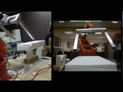 Automated FoamDome #1 - Robotized fabrication of a parametric 1/1 model via Grasshopper
