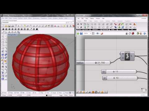 grasshopper 3d - sphere, isotrim, pipe - 2