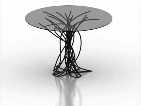 Wired table with Grasshopper