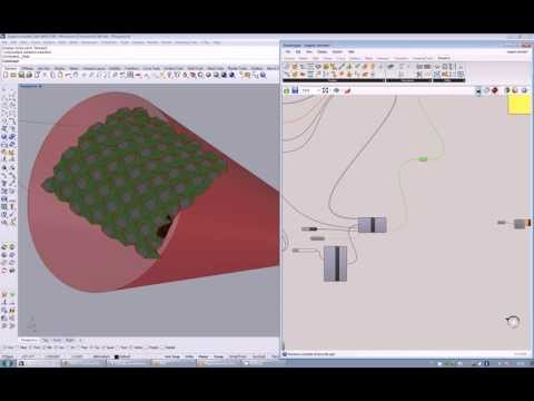 Origami waterbomb simulator and placer (rhinoceros+grasshopper+kangaroo)