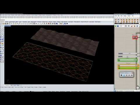 Folding Simulation in Grasshopper Kangaroo Plugin _Part 3
