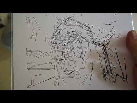 Abstract Portrait Drawing Machine