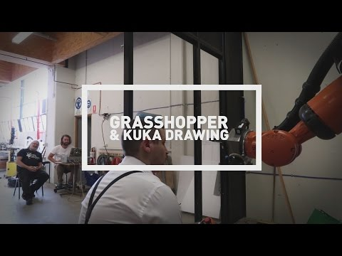Grasshopper and KUKA Drawing Demonstrations