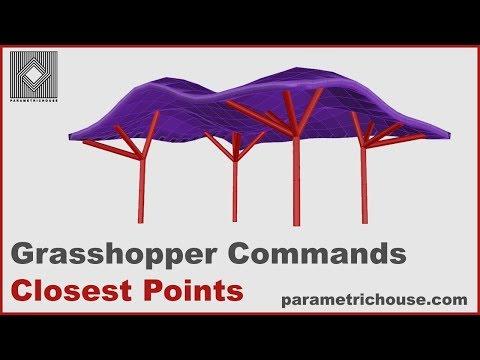 Grasshopper tutorial : Commands - Closest Points