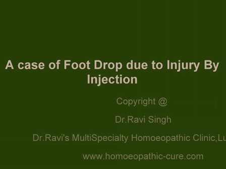 Foot Drop cured by Homeopathic Drug Transmission Dr