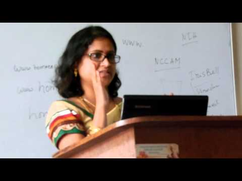 Kavitha Kukunoor's Guest Lecture at JSPS Homeo medical college.MOV