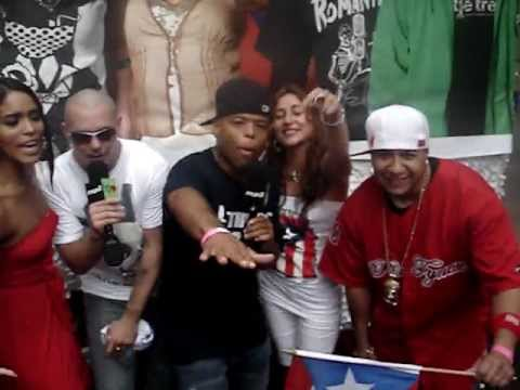 CHAVITO AFTER PR PARADE  WITH PITBULL, FRANKIE NEEDLES, MUN2