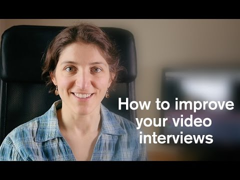 Improve your video interviews
