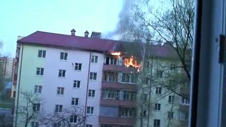 Rusia / Incendio de edificio / Video Destacado de La Hermandad de Bomberos