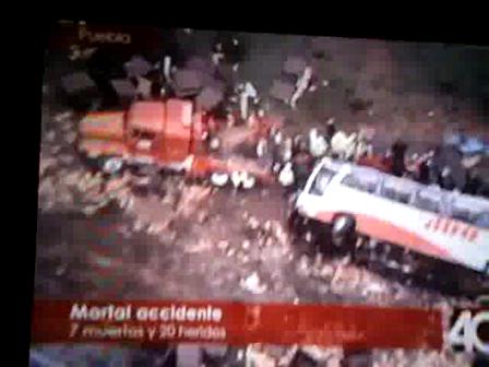 6 de Julio de 2010 / Un accidente de un camion en la autopista mexico-puebla