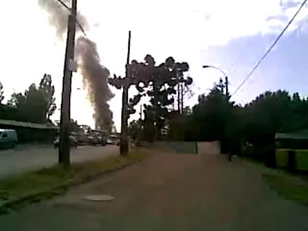 03 de Diciembre de 2010 / incendio en barrio Bohemio de Osorno / Chile