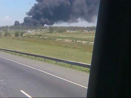 Abordo / Incendio de Depositos de Neumaticos / San Martin en Buenos Aires, Argentina