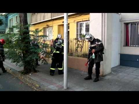 10-6 Gral. Bulnes y Catedral, área 123, H-4 y BX-11. Cuerpo de Bomberos de Santiago.