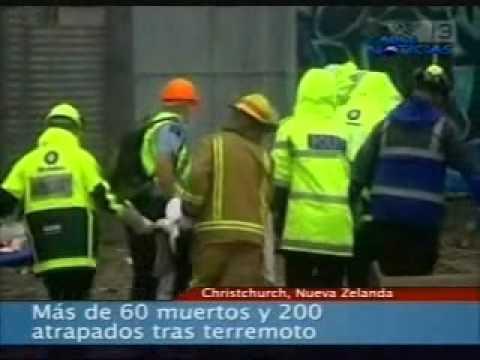 Más de 60 muertos y 200 atrapados tras terremoto en Nueva Zelanda.