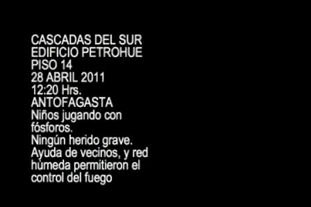 01 de Mayo de 2011 / Incendio en Edificio de Antofagasta / Chile