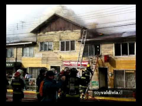 11 de Julio de 2011 / Incendio dejó nueve damnificados en Valdivia / Chile