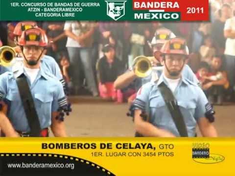 PRIMER CONCURSO DE BANDAS DE GUERRA ATZIN-BANDERAMEXICO / PRIMER LUGAR PARA BOMBEROS DE CELAYA, GTO. / MÉXICO