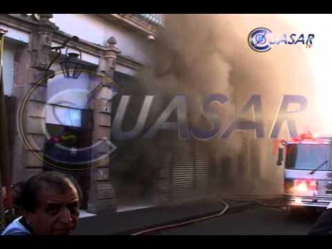 12 de Diciembre de 2011 / Incendio de Comercio en Centro Histórico de Morelia / Morelia, Mich. en México