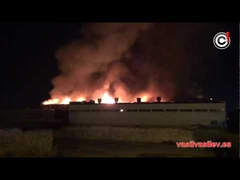 29.02.2012 / Un incendio destroza por completo la nave de supermercados Spar del Polígon de Son Castelló / ESPAÑApa
