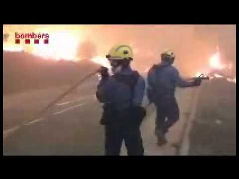 Julio de 2012 / Incendio forestal de la Jonquera / Girona en España