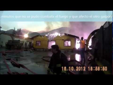 Bomberos Voluntarios bajo Fuego de Guerra - INCENDIO ACADEMIA DE GUERRA (Casco Cámara) / Chile / Vídeo Destacado de La Hermandad de Bomberos