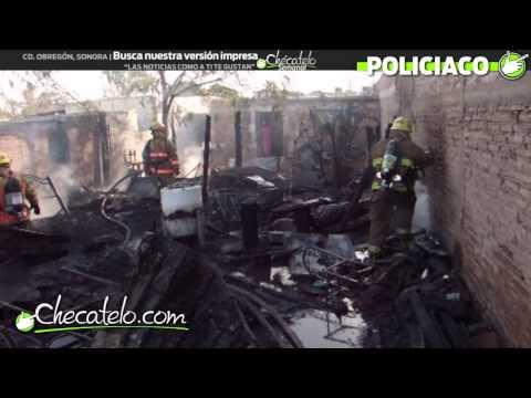 INCENDIO ESTRUCTURAL EN CIUDAD OBREGON / SONORA EN MÉXICO