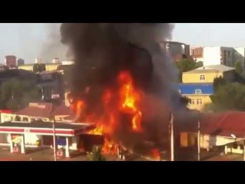 EXPLOSIÓN DE UNA GASOLINERA EN MAKHACHKALA / Vídeo Destacado de La Hermandad de Bomberos