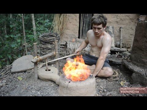...Tecnologia Primitiva Sopladores para el Fuego...  ...Primitive Technology: Forge Blower...*...