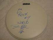 Steven Adler, Guns'N'Roses Signed Drum Skin.