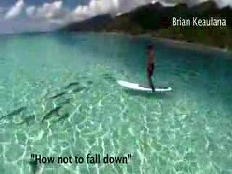 """Stand Up Paddle Surfing, """" How not to fall"""""""