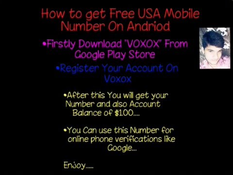 Get Free USA Mobile Number Using Andriod