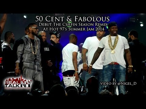 50 Cent & Fabolous Debut The Cuffin Season Remix At Hot 97's Summer Jam 2014