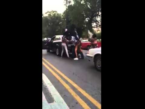 Raw Footage : Women Beat Man And His Car With Bat And Car Seat !!