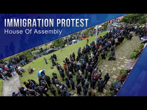 Protests : Immigration Gathering In #Bermuda March 4 2016