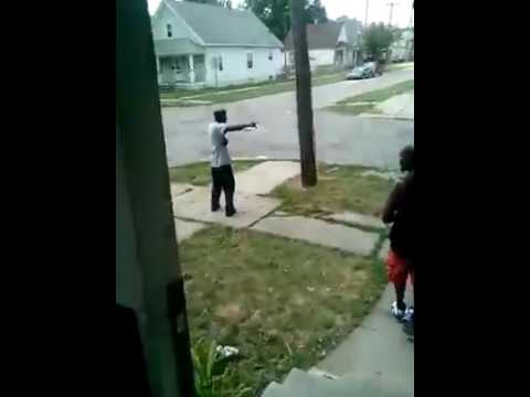 Guy trys to chase bum off his property WATCH WHAT HAPPENS NEXT !