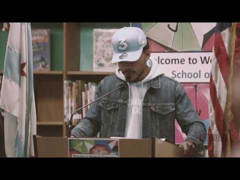 Chance the Rapper donates 1 million dollars to Chicago public schools | Press Conference