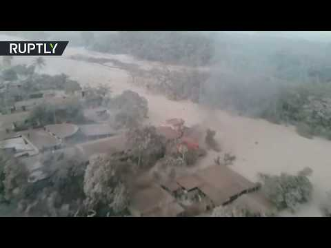 Drone shows aftermath of Fuego eruption in Guatemala, 25 died 'A village has disappeared'