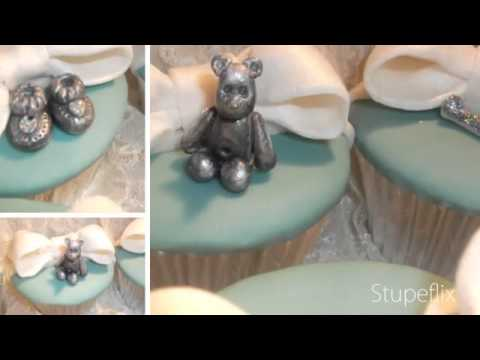 Fondant Fetish - Tiffany inspired Christening Cupcakes