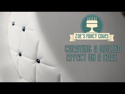 Creating a quilted effect on a cake How To Tutorial Zoes Fancy Cakes