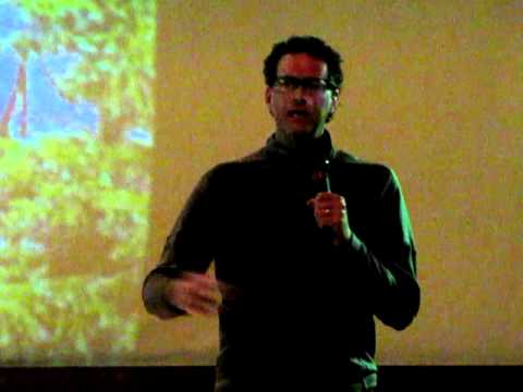 """Mike Dion, producer of the movie """"Ride the Divide,"""" takes questions at fundraising event in Colorado Springs"""
