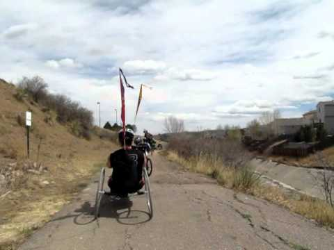 Riding with the folks in the Colorado Springs Therapeutic Recreation Program