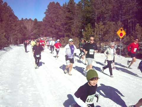 Start of the Pikes Peak Road Runners Winters Series IV  short-course race