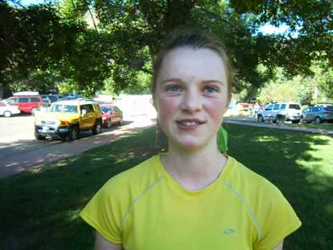 14-year-old Bailey Blackhurst wins the women's race in the inaugural Garden of the Gods 5K