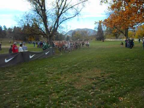 Start of the men's USATF Colorado Cross Country Championship race