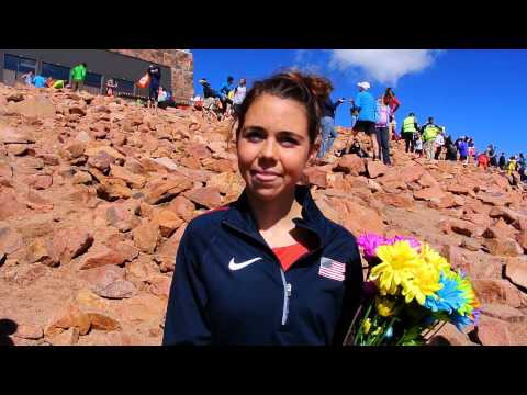 Allie McLaughlin talks about winning the Pikes Peak Ascent