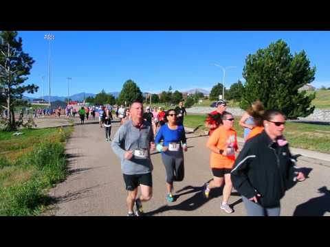 Start of the Oktoberfest 8K in Colorado Springs