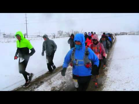 Snowy start to the Greenland Trail Race 50K